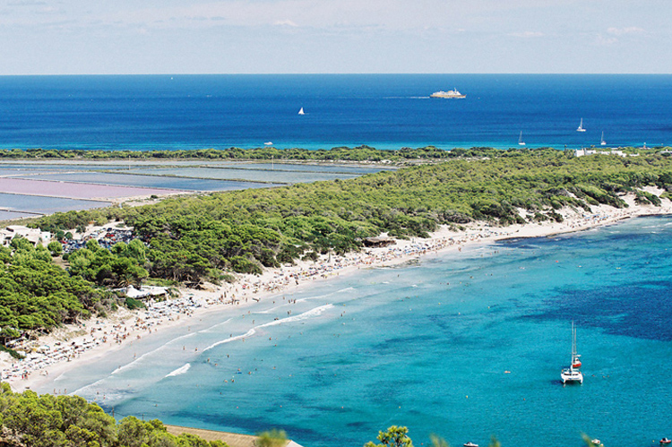 ibiza october beaches ses salines